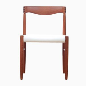 Mid-Century Scandinavian Teak Dining Chairs by H.W. Klein for Bramin, Set of 4