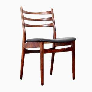 Skandinavische Palisander Stühle, 1970er, 4er Set