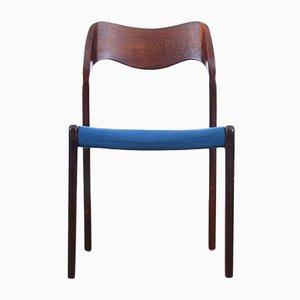 Mid-Century Modell 71 Stühle aus Palisander von Niels O. Møller für Møllers Møbelfabrik, 4er Set