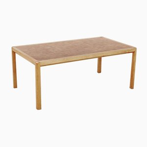 Large Mid-Century Scandinavian Oak Coffee Table by Gorm Lindum & Rolf Middelboe for Tranekær Furniture