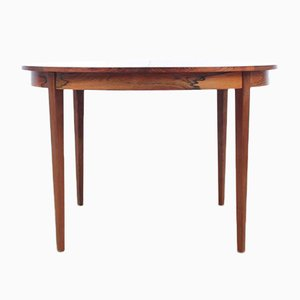 Mid-Century Scandinavian Round Rio Rosewood Dining Table, 1970s