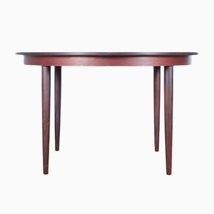 Mid-Century Danish Extendable Round Rio Rosewood Dining Table by Hans Skovmand for Skovmand & Andersen