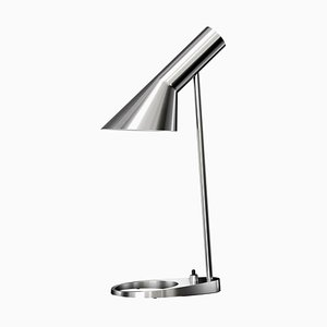 Mid-Century Scandinavian Polished Stainless Steel AJ Mini Table Lamp by Arne Jacobsen for Louis Poulsen