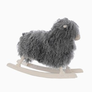 Mid-Century Modern Scandinavian Rocking Sheep by Povl Kjer