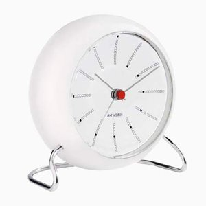 White Station Table Clock by Arne Jacobsen, 1930s