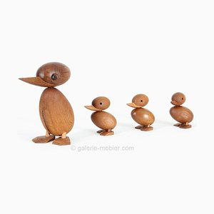 Vintage Teak Duck Family by Hans Bølling for Architectmade