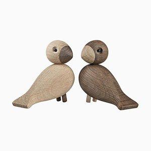 Vintage Liebes Vögel von Kay Bojesen für Kay Bojesen, 2er Set