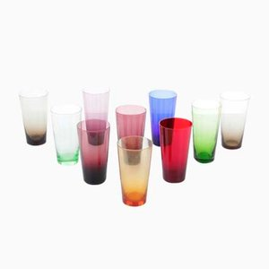 Colored Glasses, 1960s, Set of 8