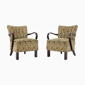 Mid-Century Model H-237 Armchairs by Jindřich Halabala, 1950s, Set of 2