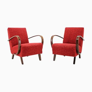 Mid-Century Armchairs by Jindrich Halabala, 1950s, Set of 2
