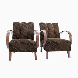 Armchairs by Jindrich Halabala, 1950s, Set of 2