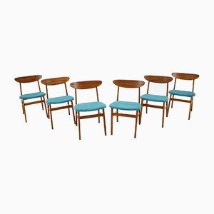 Dänische Modell 210r Esszimmerstühle von Thomas Harlev, 1960er, 6er Set