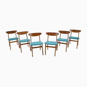 Danish Model 210r Dining Chairs by Thomas Harlev, 1960s, Set of 6