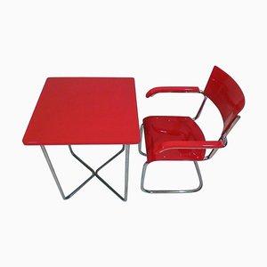 Vintage Sessel und Tisch Set von Robert Slezák, 1930er