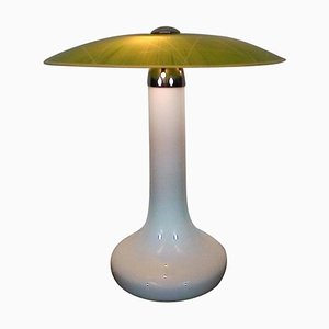 Mid-Century Glass Table Lamp from Zukov, 1960s