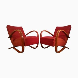 Vintage Model H269 Armchairs by Jindrich Halabala, 1930s, Set of 2