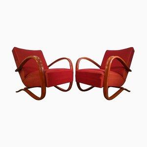 Vintage Modell H269 Sessel von Jindrich Halabala, 1930er, 2er Set