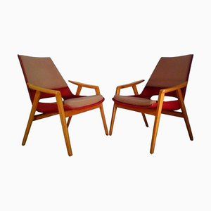 Mid-Century Lounge Chairs by Miroslav Navratil, 1960s, Set of 2
