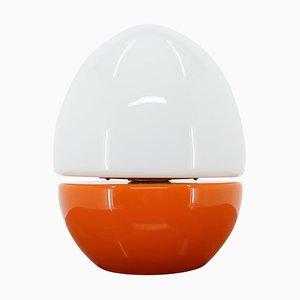 Vintage Opalglas Egg Tischlampe, 1970er