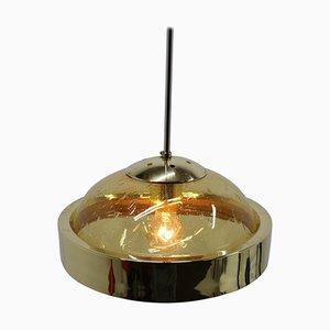Space Age Deckenlampe aus Glas, 1960er