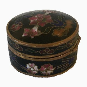 Small Antique Chinese Flower Box