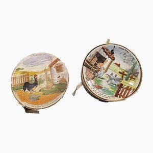 Humoristische Vintage Teller, 6er Set