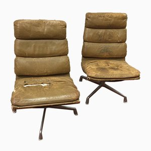 Vintage Softpad Armchairs by Charles & Ray Eames for Herman Miller