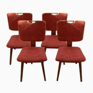 Moderne Vintage Esszimmerstühle, 1950er, 4er Set