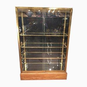 Vintage Brass & Glass Showcase