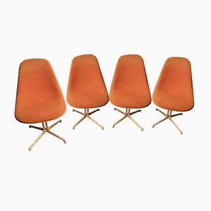 Vintage La Fonda Chairs by Charles & Ray Eames, Set of 4