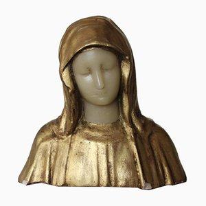 Vintage Skulptur aus Vergoldetem Gips & Wachsfiguren