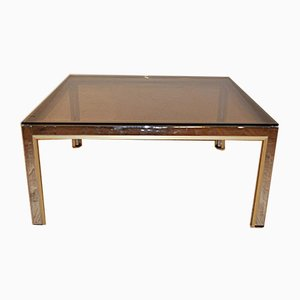Vintage Brass & Chrome Coffee Table by Romeo Riga