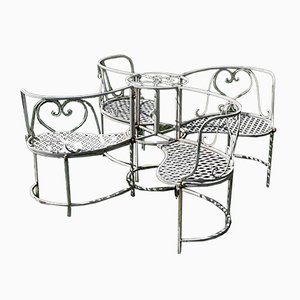 Vintage Wrought Iron Garden Seating, 1970s