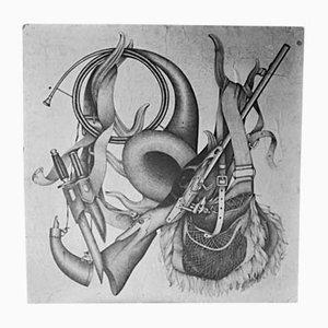 Vintage Preparatory Silk & Pencil Art Edition by Bianchini-Ferier