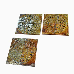Vintage Ceramic Tiles, 1950s, Set of 12