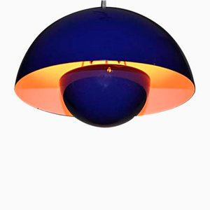 Vintage Suspension Flower Ceiling Lamp by Verner Panton