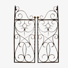 Iron and Brass Grillwork, Set of 2