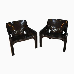 Vintage Armchairs by Vico Magistretti, Set of 2