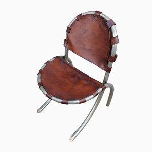 Modell Medusa Sessel aus Leder & Metall von Bazzani für Studio Tetrark, 1950er, 4er Set