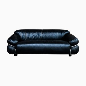 Italian Leather Sesann Sofa by Gianfranco Frattini for Cassina, 1972 to reupholster in wool
