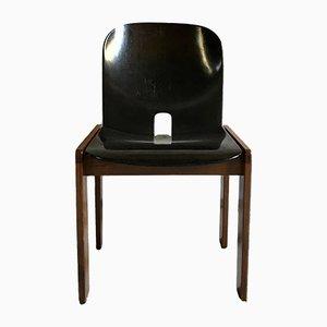 Chaises de Salle à Manger Modèle 121 Laquée en Noyer par Tobia & Afra Scarpa pour Cassina, 1967, Set de 4