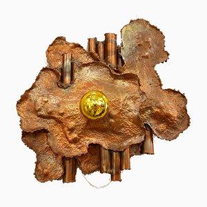 Italian Brutalist Copper Sconces, 1970s, Set of 2