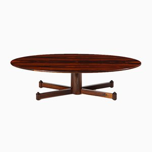 Mid-Century Modern Brazilian Rosewood Coffee Table, 1950s