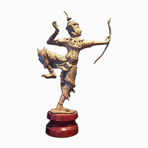 Bronze Archer Skulptur King Rama Thai