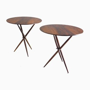 Mid-Century Modern Brazilian Janete Side Tables by Sergio Rodrigues, 1950s, Set of 2