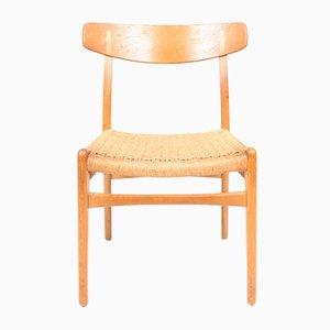 CH 23 Beistellstühle aus Eiche von Hans J. Wegner für Carl Hansen & Søn, 1950er, 6er Set