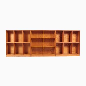 Dänische Kiefernholz Bücherregale von Mogens Koch für Rud. Rasmussen, 1950er, 3er Set