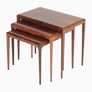 Danish Modern Rosewood Nesting Tables by Johannes Andersen for CFC Silkeborg, 1960s