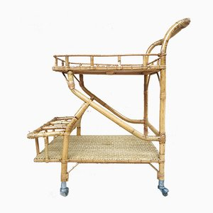 Mid-Century Modern Bamboo Garden Tea Cart, 1950s