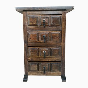 Antique Spanish Carved Walnut Chest of Drawers